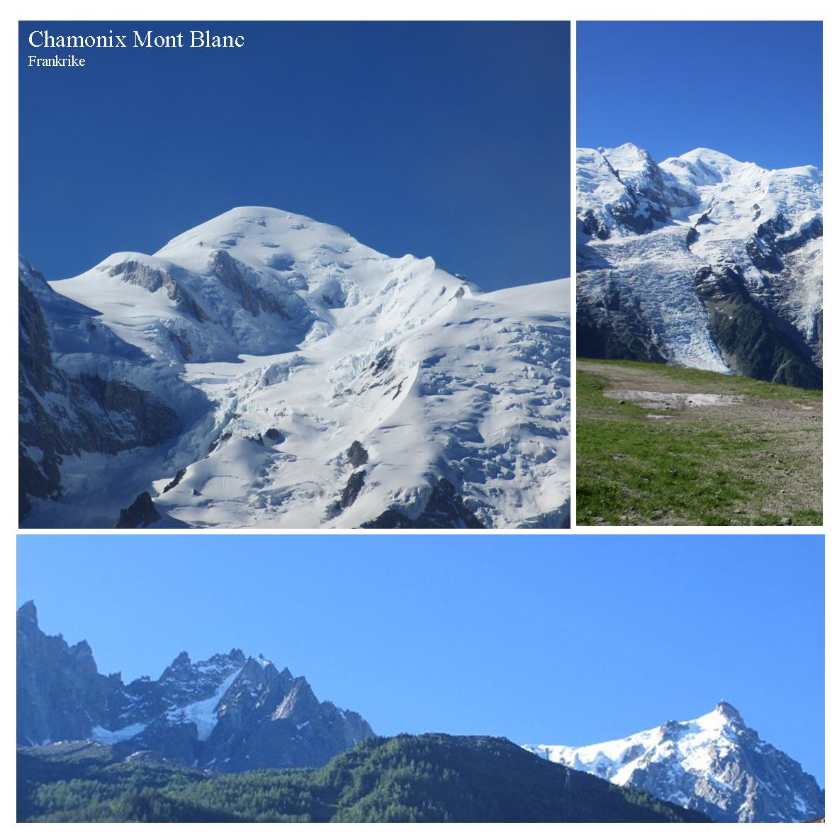 Chamonix Mont Blanc om sommeren