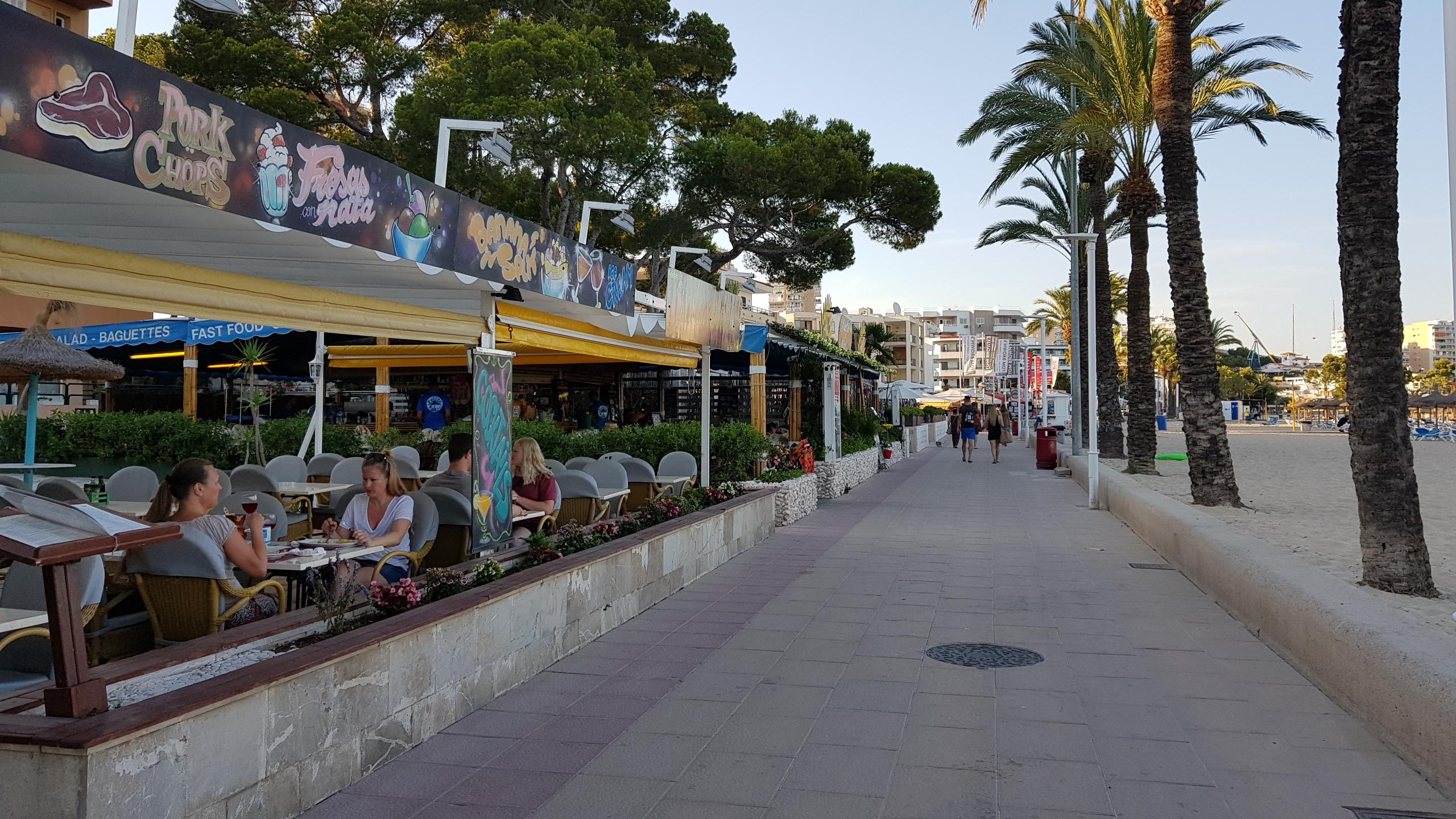 Strandpromenaden i Magaluf, Mallorca
