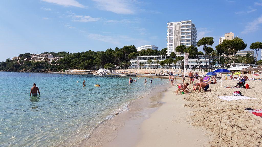 Stranden i Magaluf på Mallorca