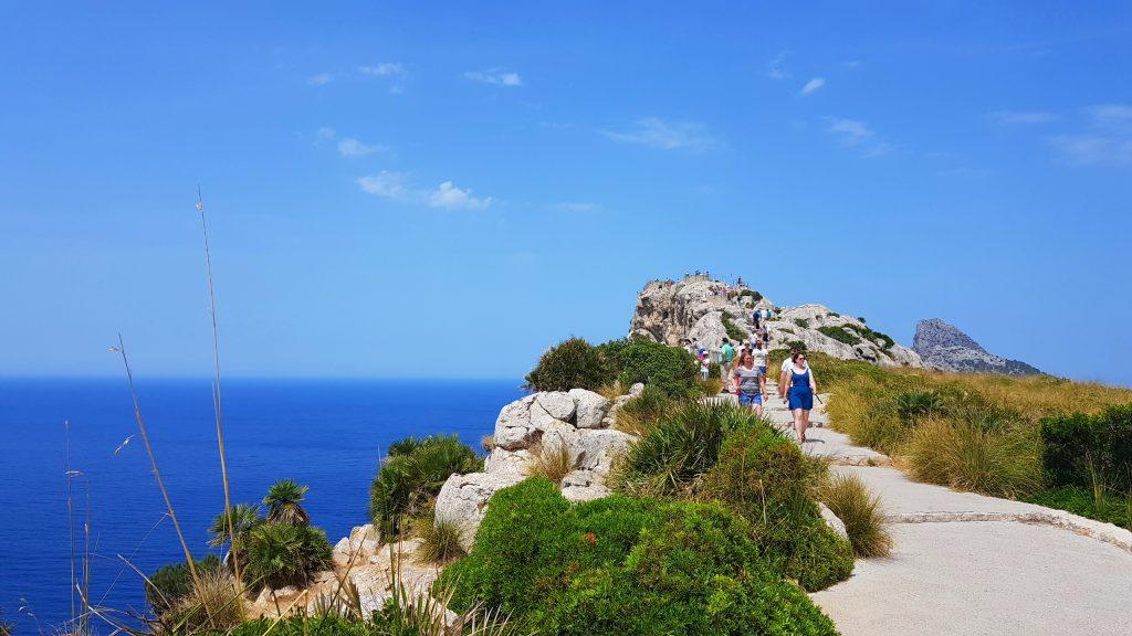 Cap Formentor Mallorca, stopp ved klippen
