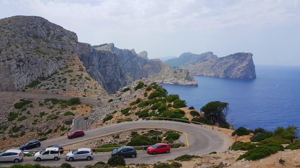 Utsikt fra fyret på Cap de Formentor Mallorca