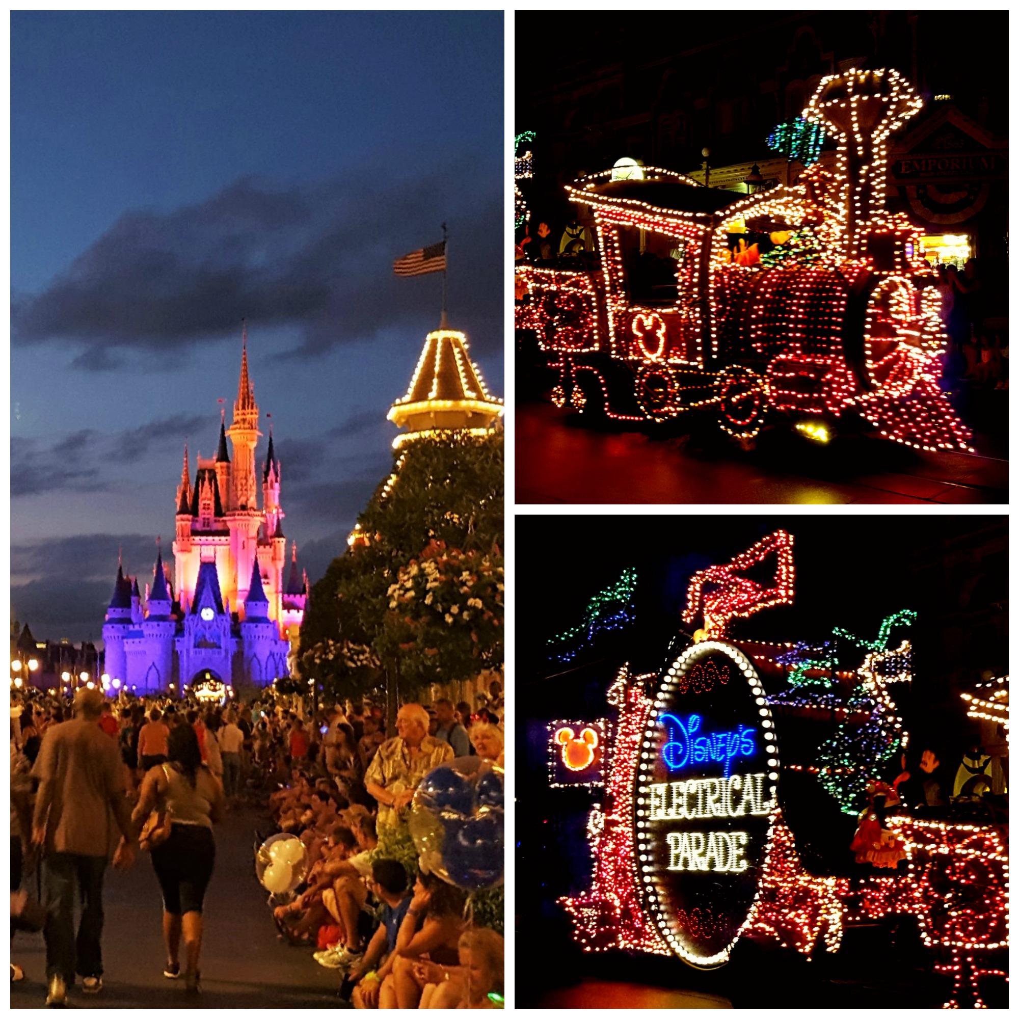 Lysparade i Magic Kingdom Florida