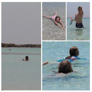 Badeglede på Elafonissi Kretas beste strand