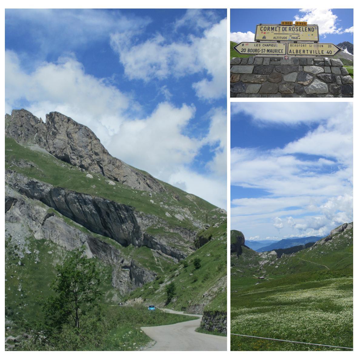 Høye fjelloverganger på bilferie i franske alper