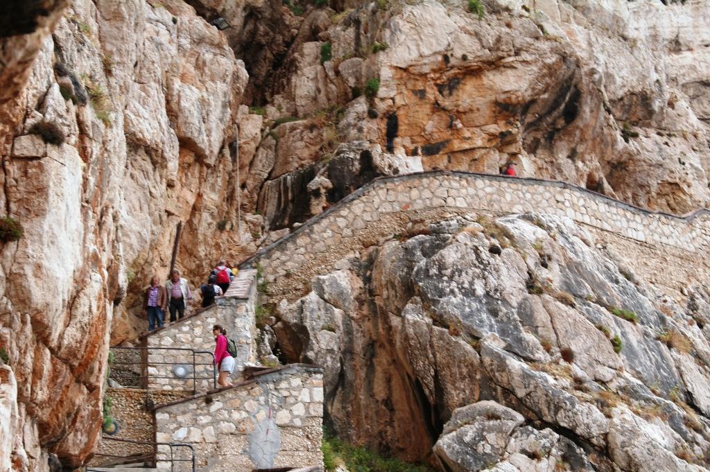 Trappetrinn dryppstensgrotten ved Alghero