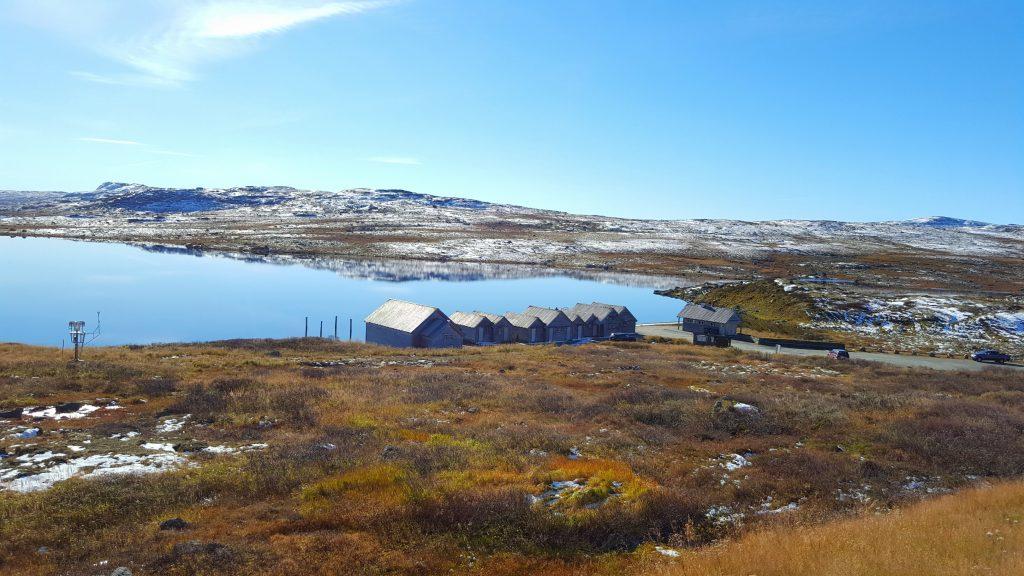 Hardangervidda Halne Fjellstove utsikt