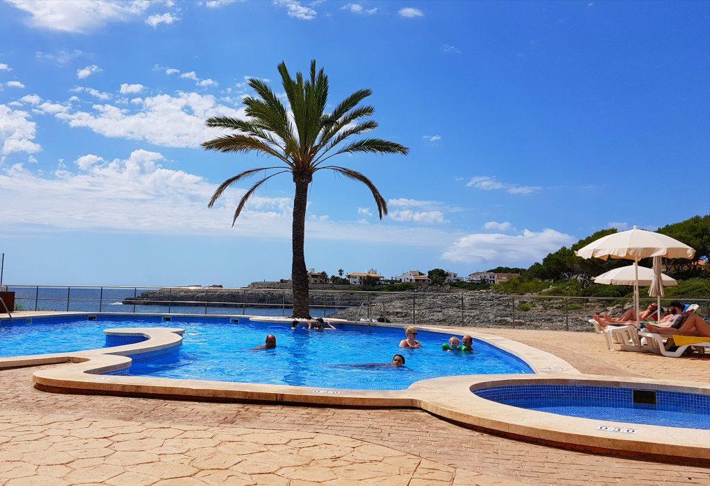 Utsikt fra hotellet i Porto Colom