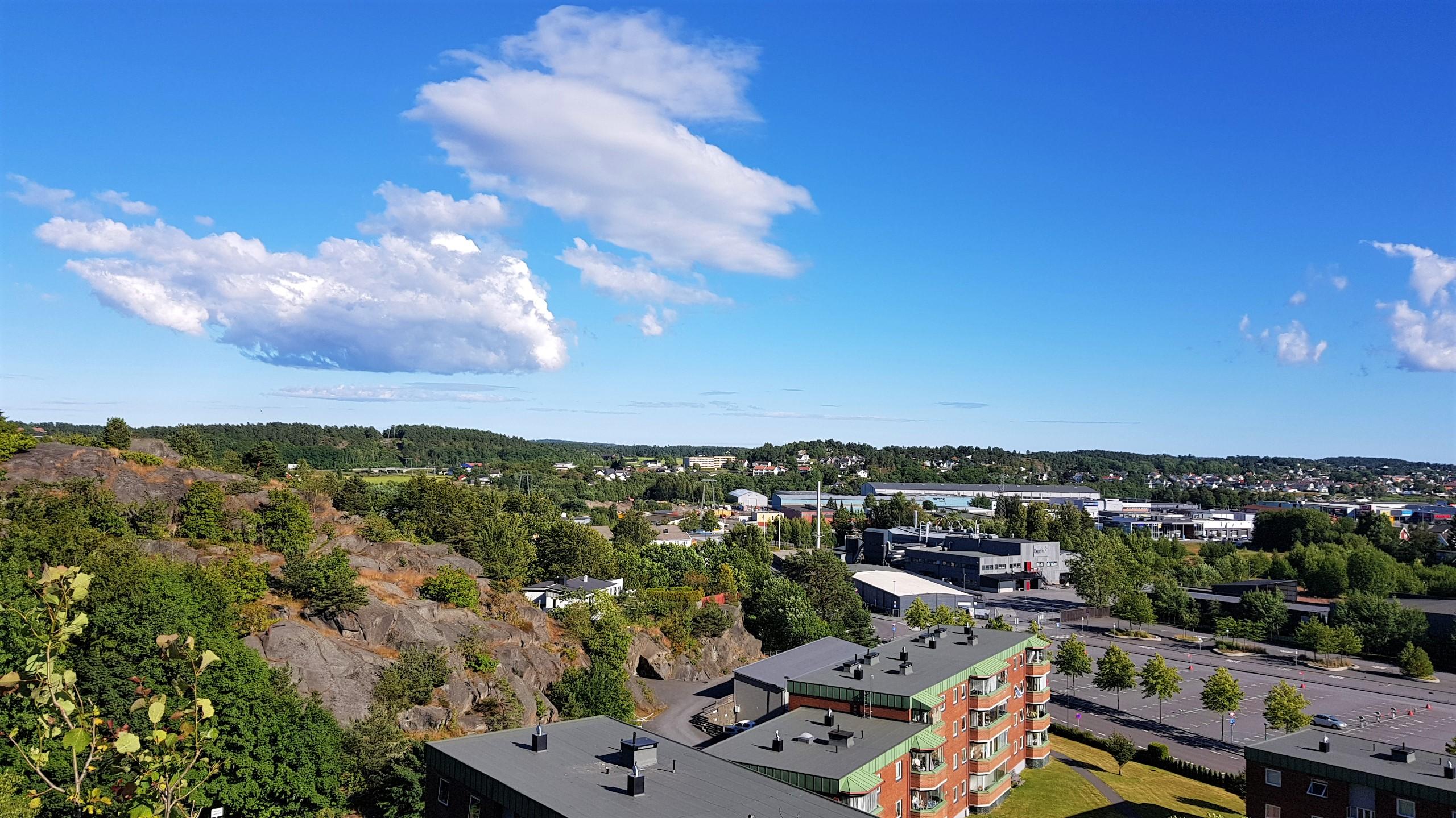 Bystien i Larvik utsikt