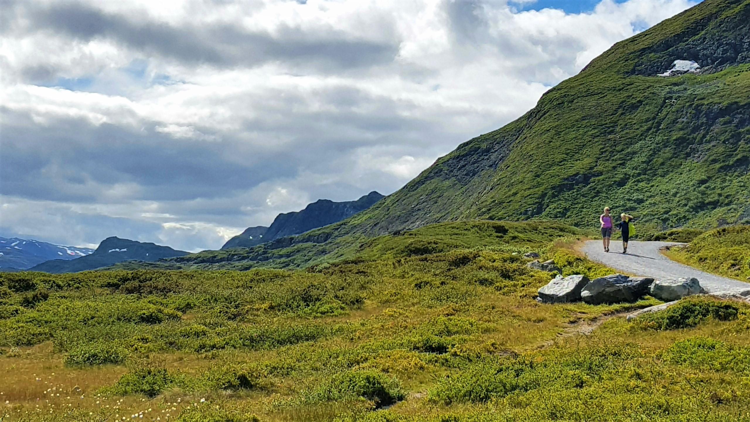 Vakkert fjellandskap ved Bygdin Fjellhotell.