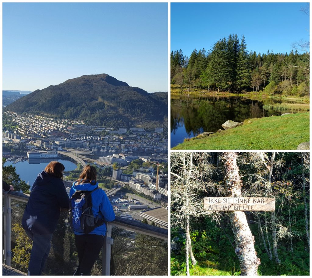 Utsikt fra Fløyenfjellet - bilferie til Bergen