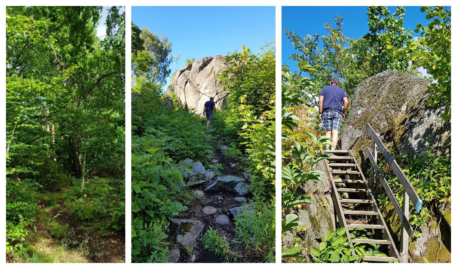 Bystien i Larvik en sommerdag