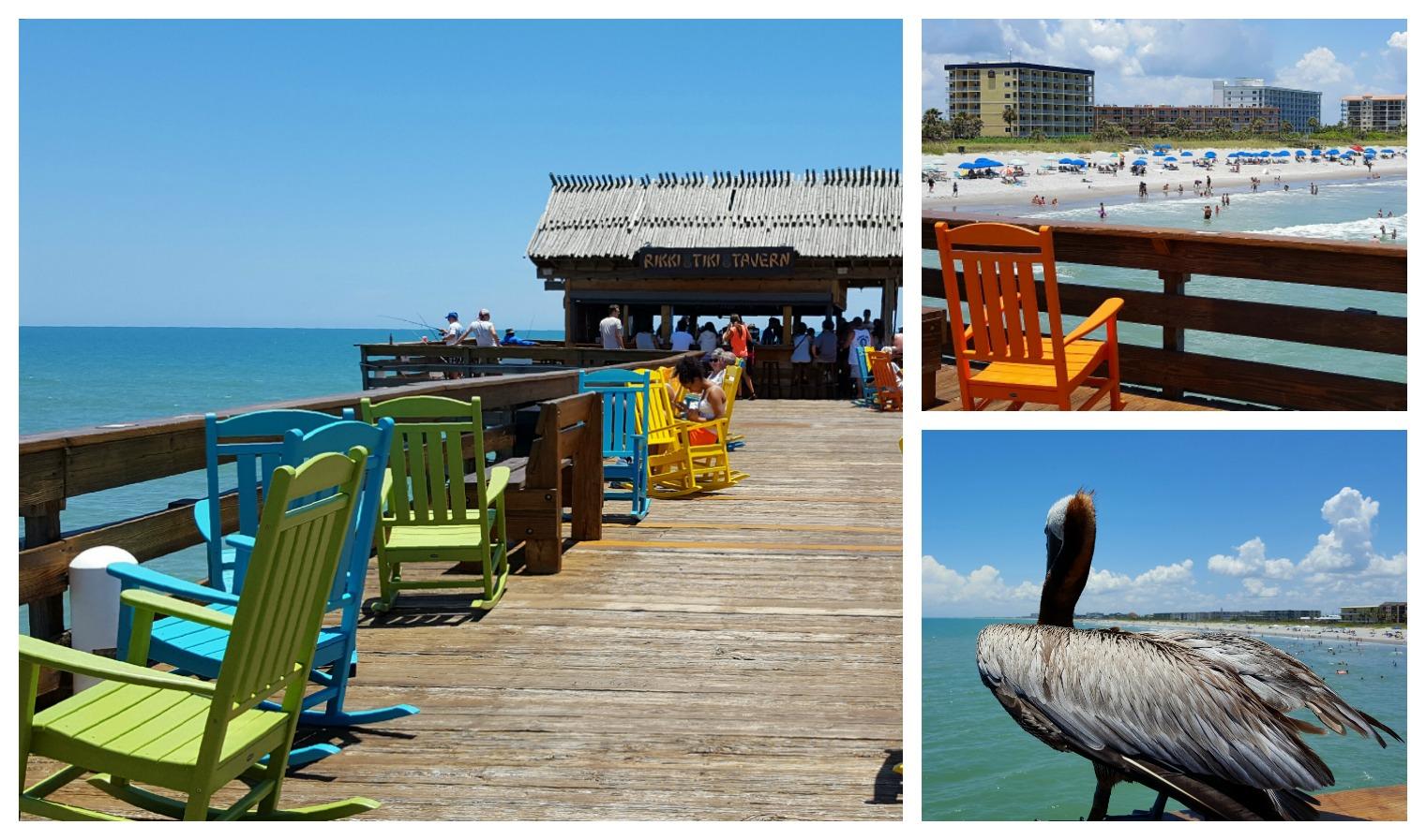 Cocoa Beach Pier er et fint stopp på bilferien i Florida