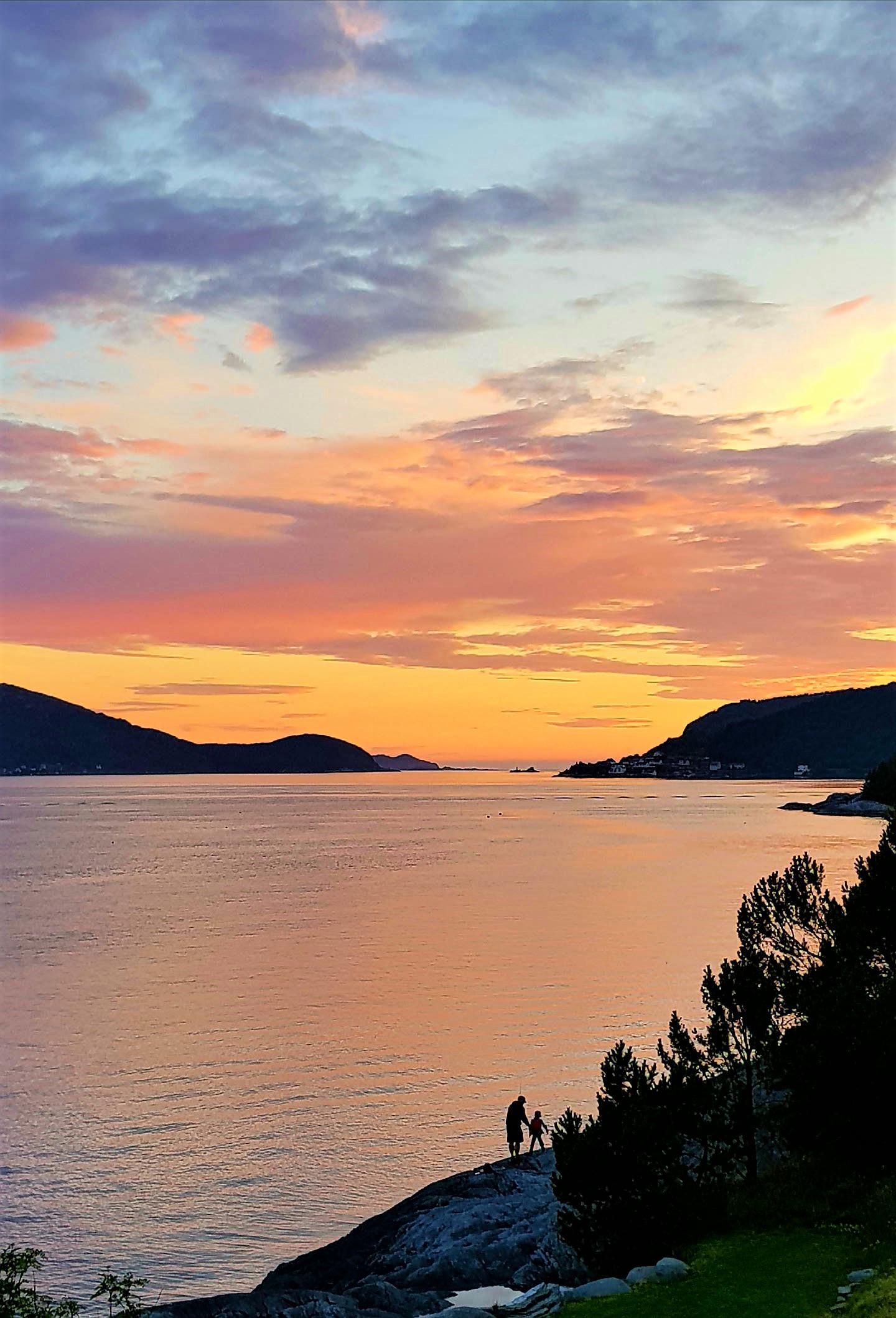 Bilferie Vestlandet - solnedgang