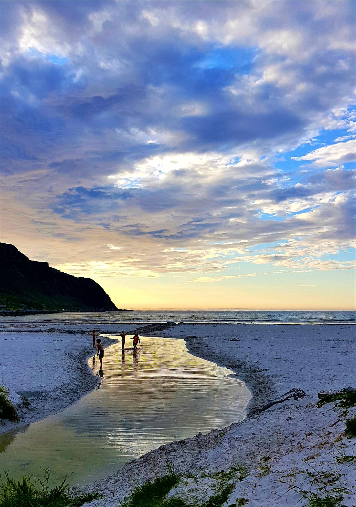 Vestlandet solnedgang Refviksanden