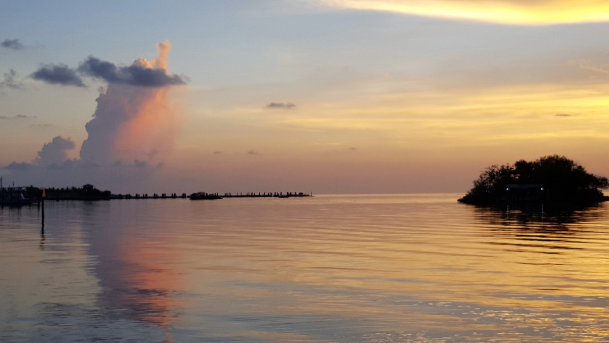 Solnedgang i Florida Keys