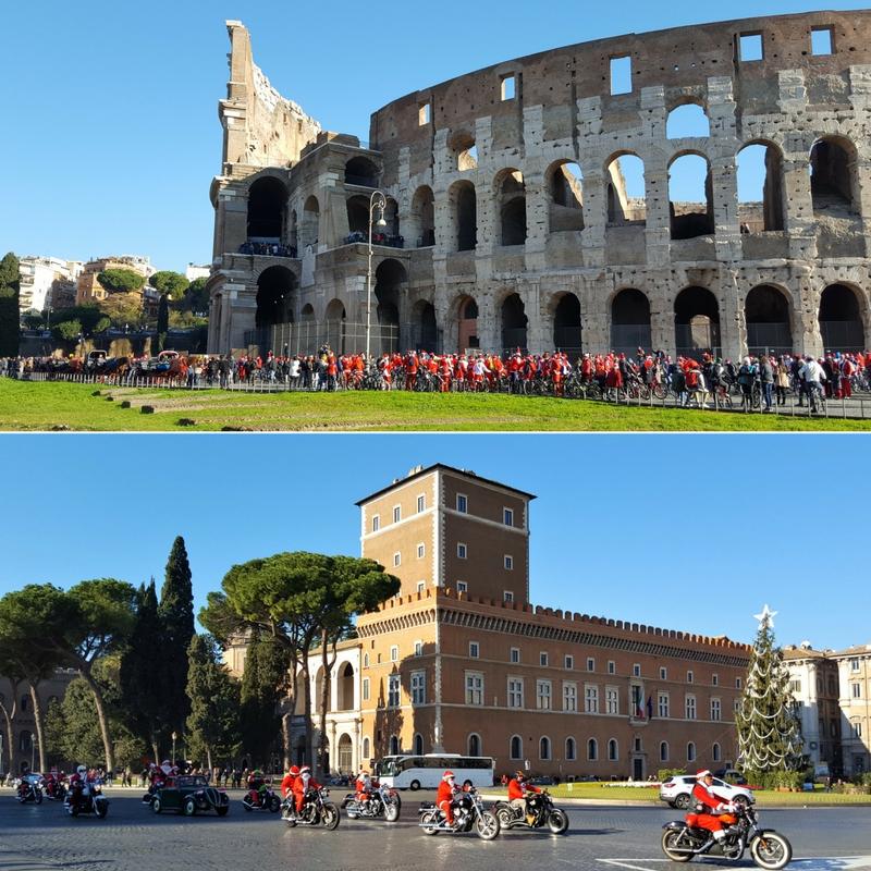 Juletur til Roma - nisser Colloseum