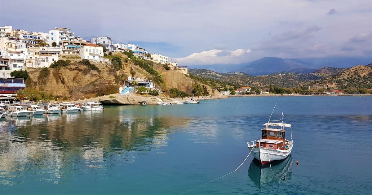 På biltur på Kreta vinter