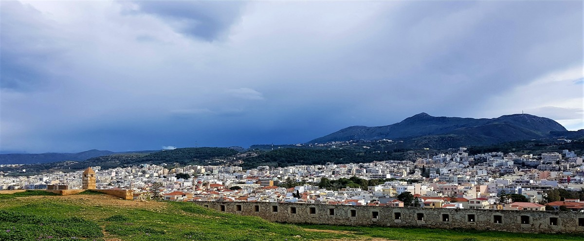 Utsikt fra Fortezza Rethymnon Kreta