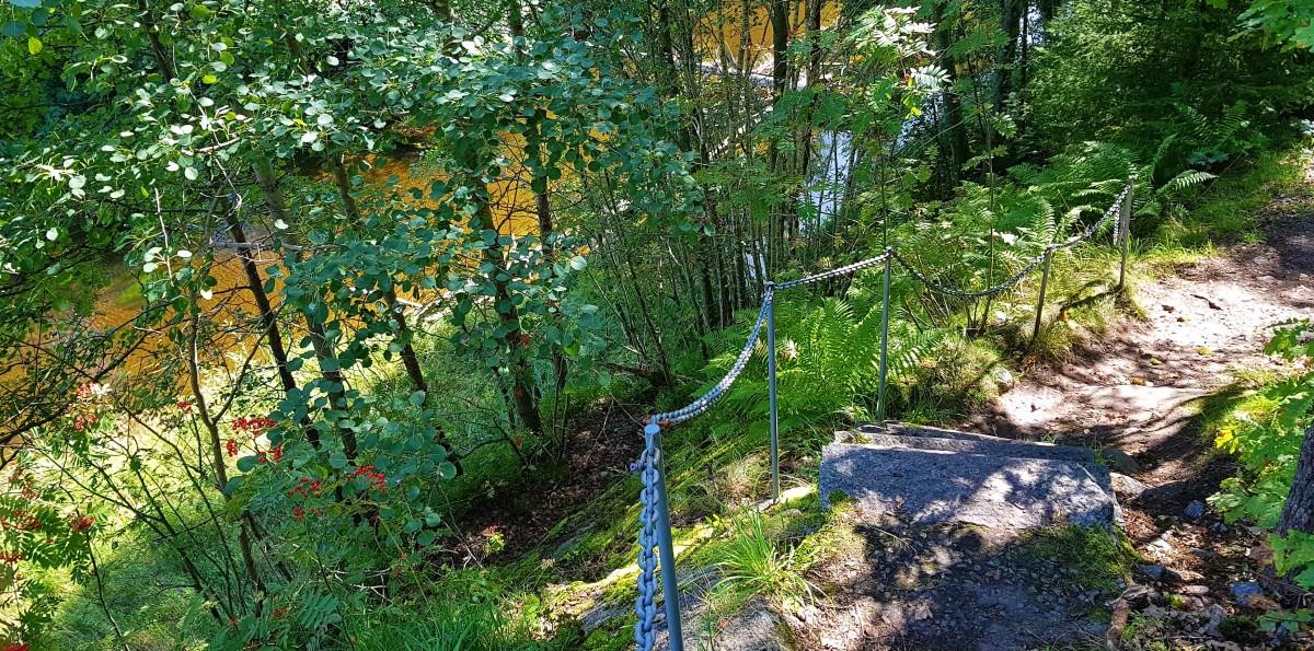 Elvestien i Larvik - trapper