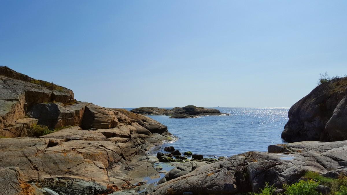 Utsikt mot havet fra Kyststien Larvik