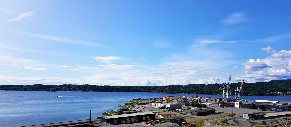 Utsikt fra Oseberget i Larvik