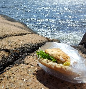 Lunsj på Oterøya i Larvik