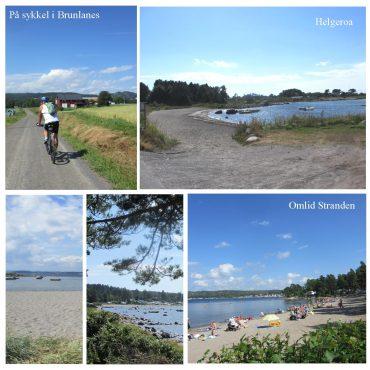 Med sykkel på kyststien fra Helgeroa til Nevlunghavn.