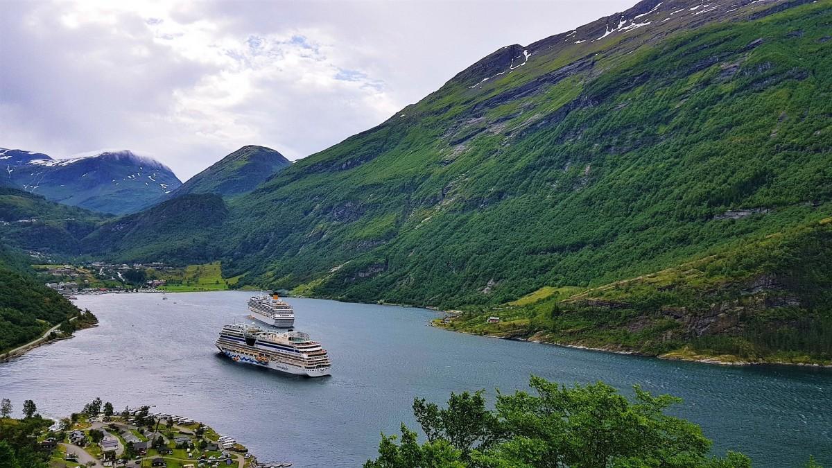Utsikt Geirangerfjorden Ørneveien