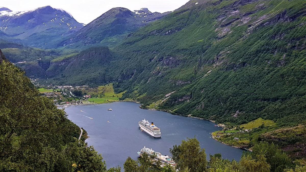 Utsikt fra Ørneveien - Geiranger