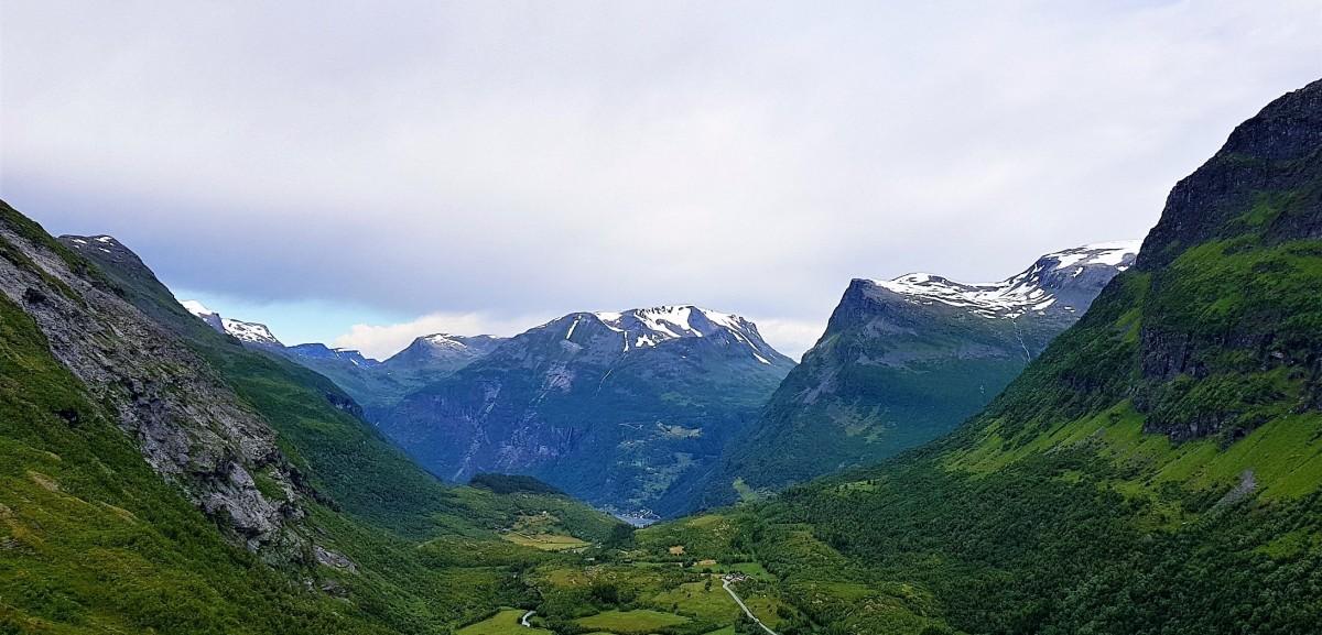 Utsikt mot Geiranger.