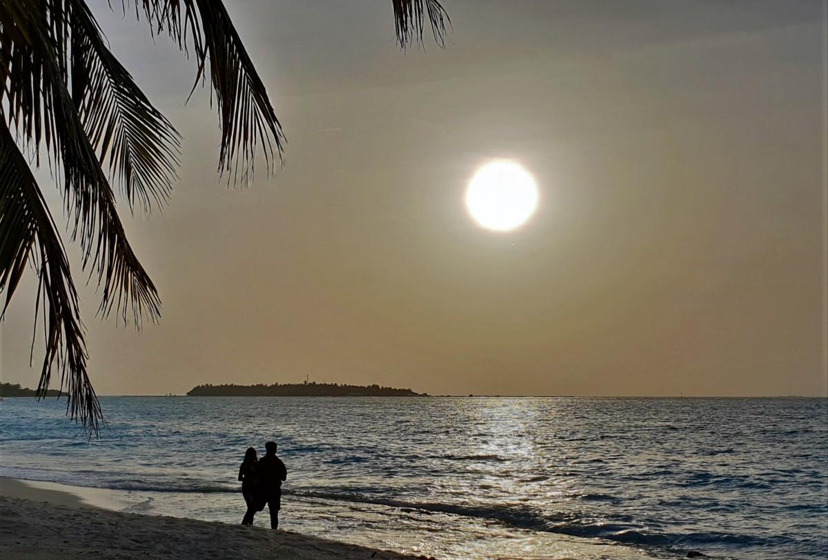 Solnedgang på Maldivene