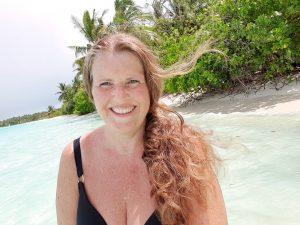 Anne Bente Hauge, reiseblogger på Maldivene