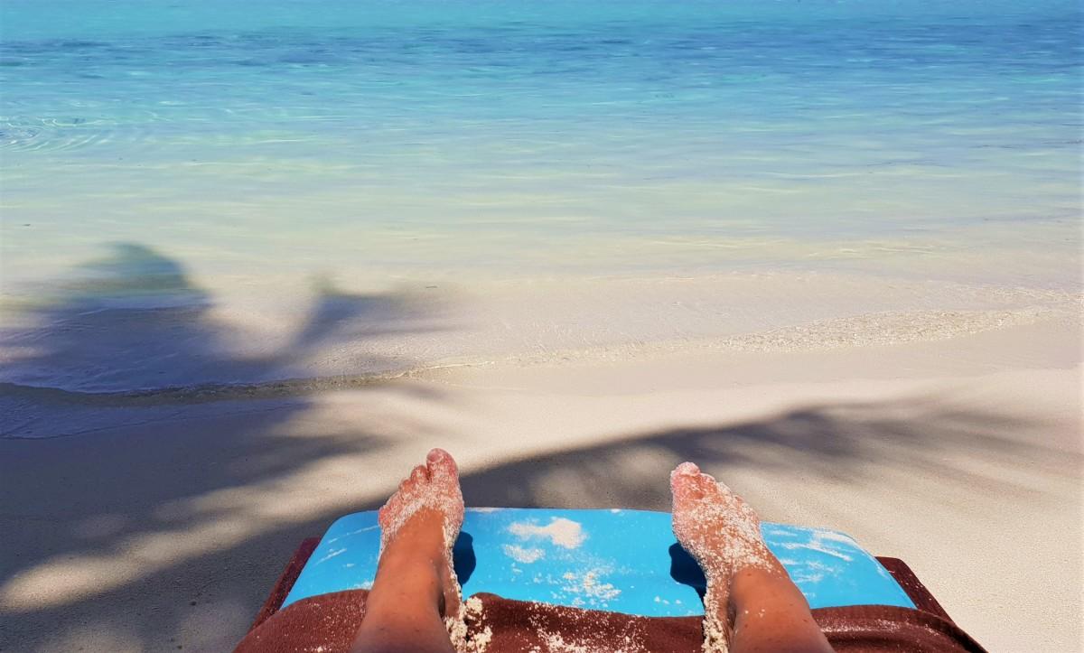 Sol og sand på Maldivene