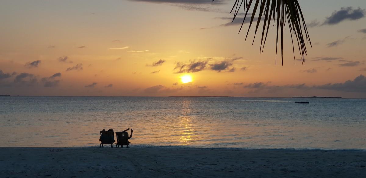 Soloppgang på Maldivene