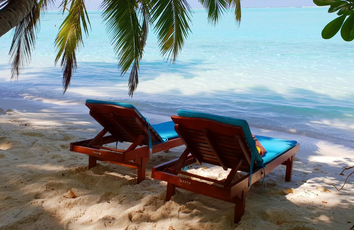 Solplass på Maldivene