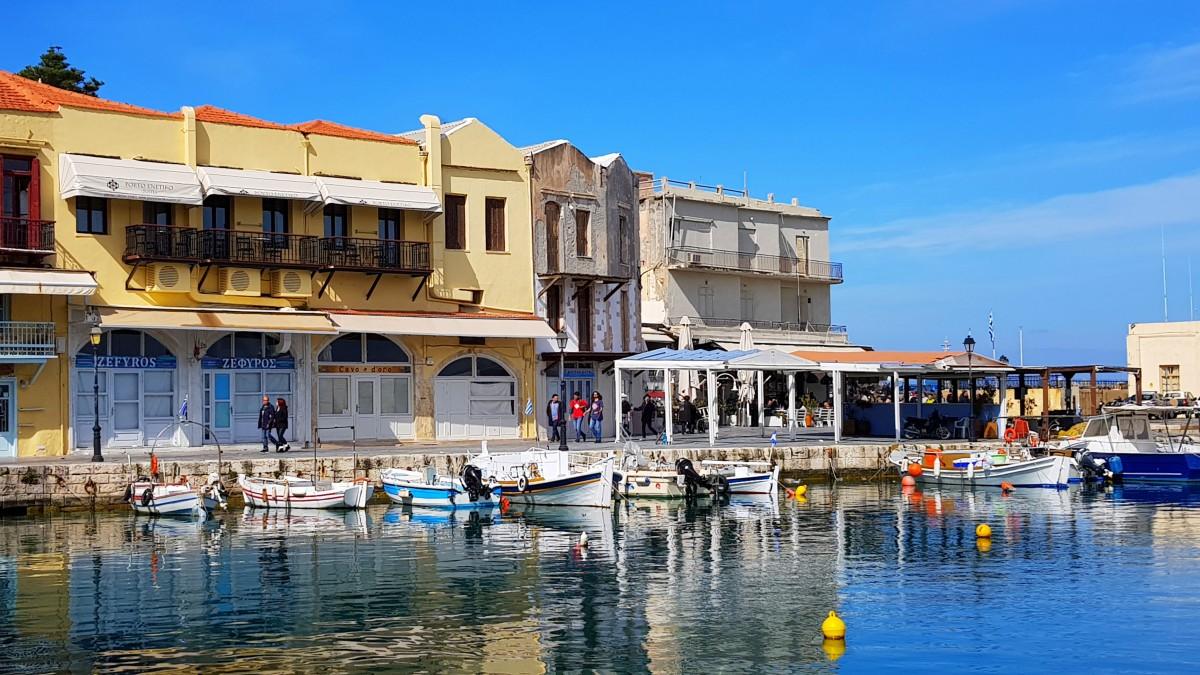 Rethymnon havn vinter