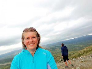 Reiseblogger Anne Bente på Viewpoint Snøhetta