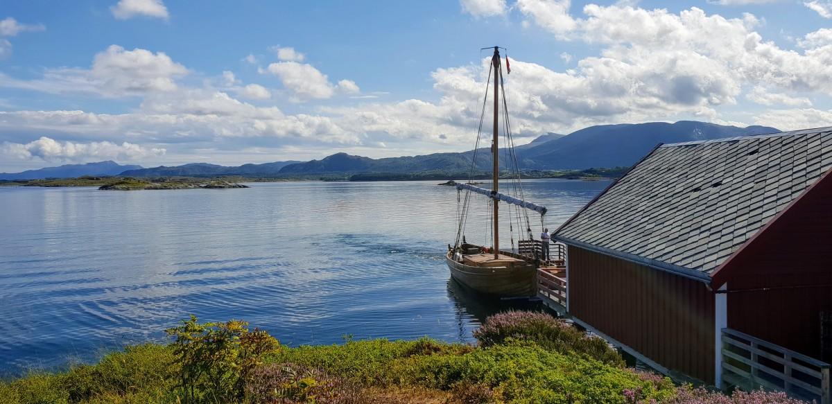 Vikingskip fra Geitøya til Håholmen