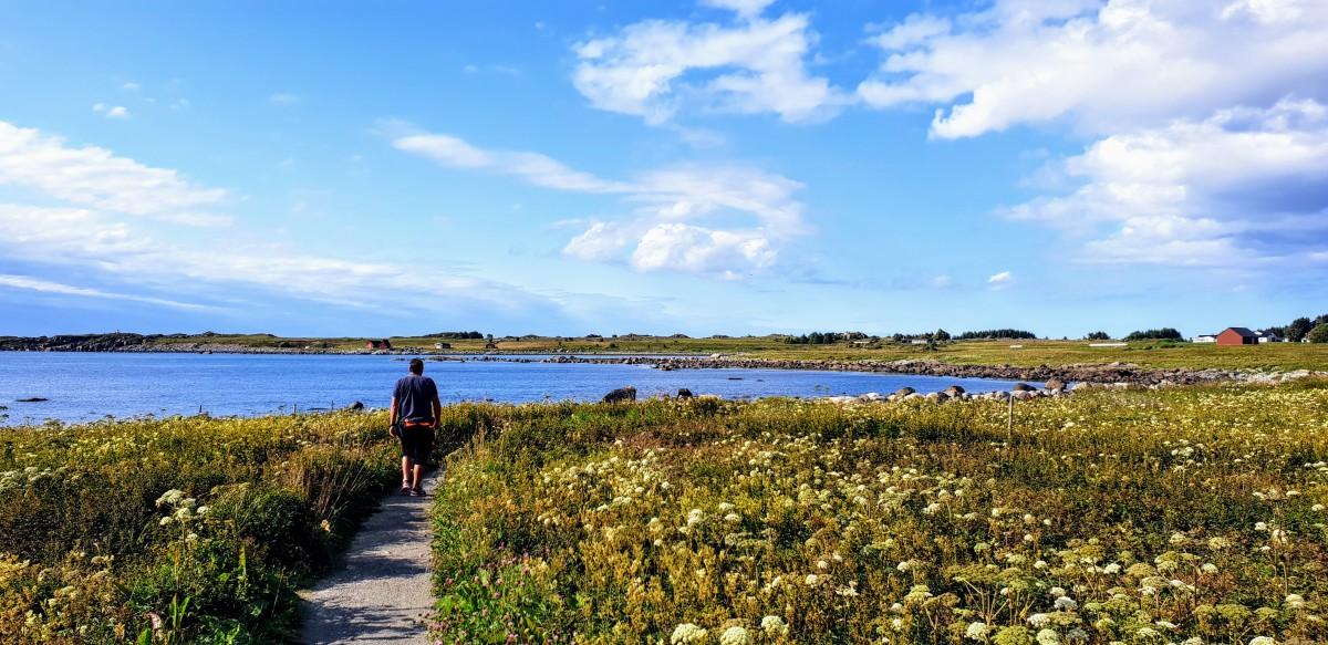 Farstadsanden ved Atlanterhavsveien og kyststi til Nordneset