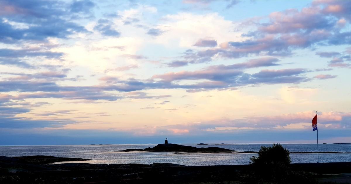 Hustadvika Gjestgård solnedgang