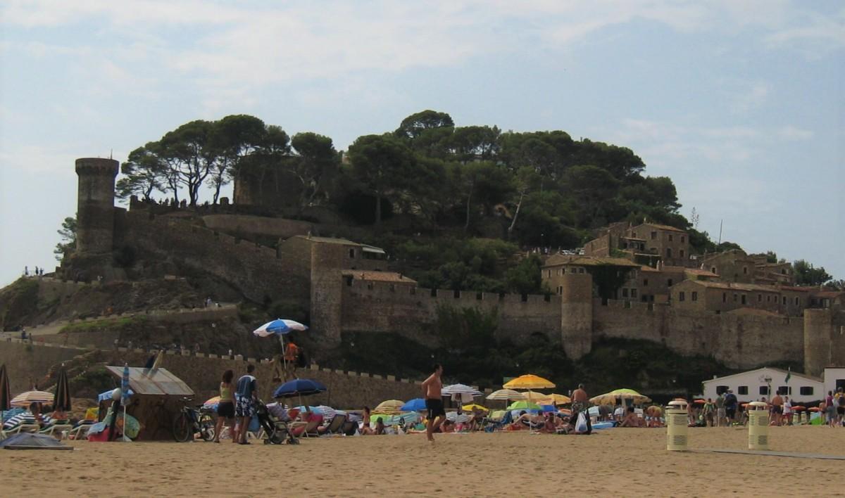 Borgen og bymyrene i Tossa de mar, Costa Brava