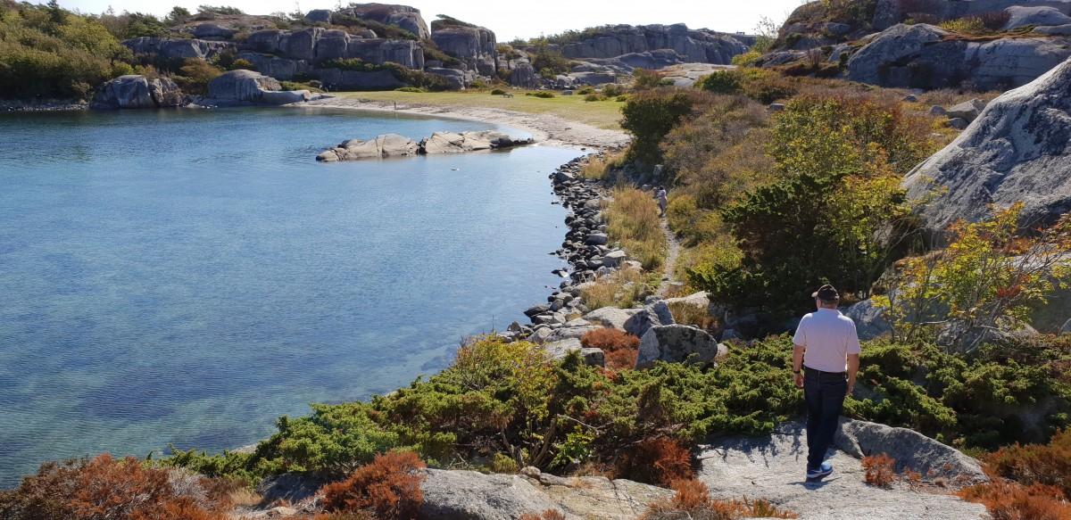 Vakker strand ved Ølbergholmen i Larvik