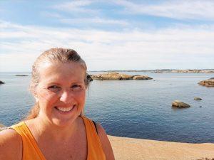 Reiseblogger Anne Bente Hauge på Ølbergholmen