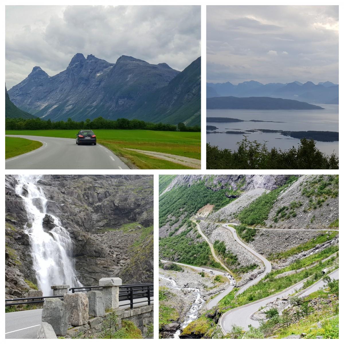 Trollstigen på bilferie i Norge