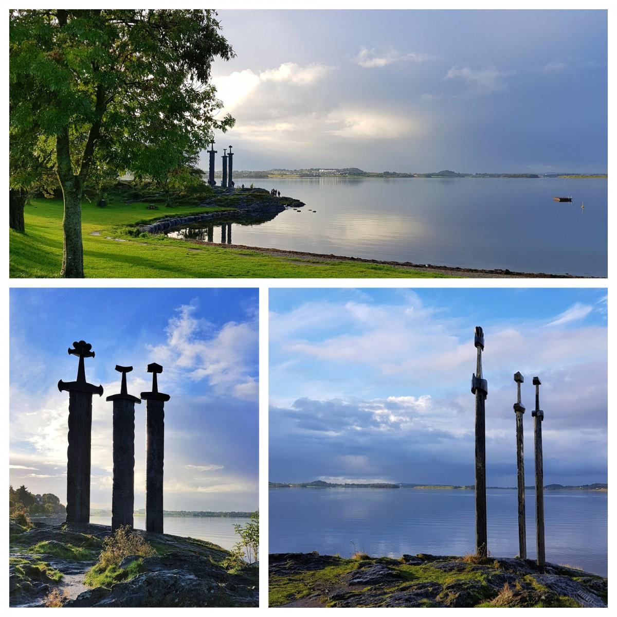 Sverd i sten ved Hafresfjord til minne om slaget ved Hafresfjord.