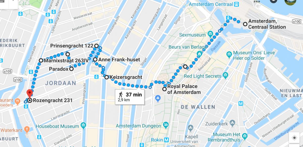 Rusletur i Amsterdam - kart