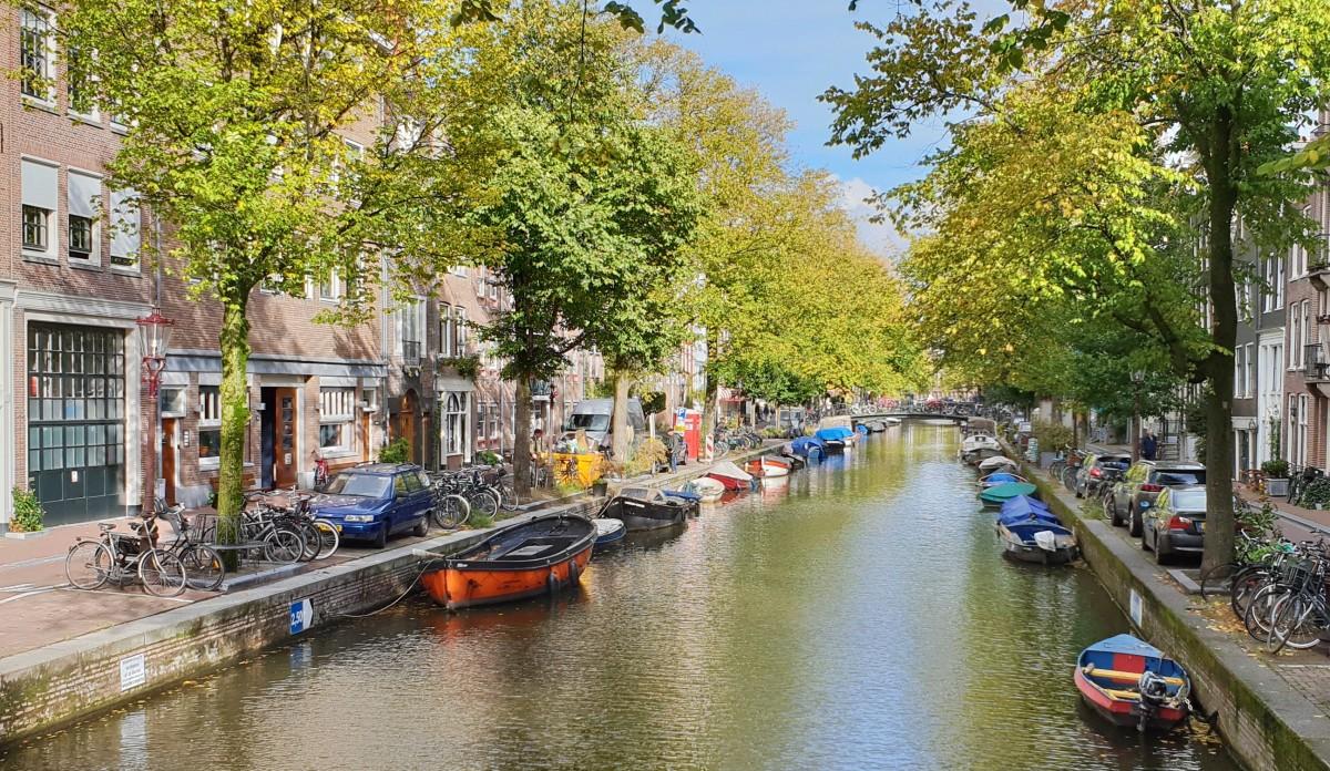 Kanal i Amsterdam