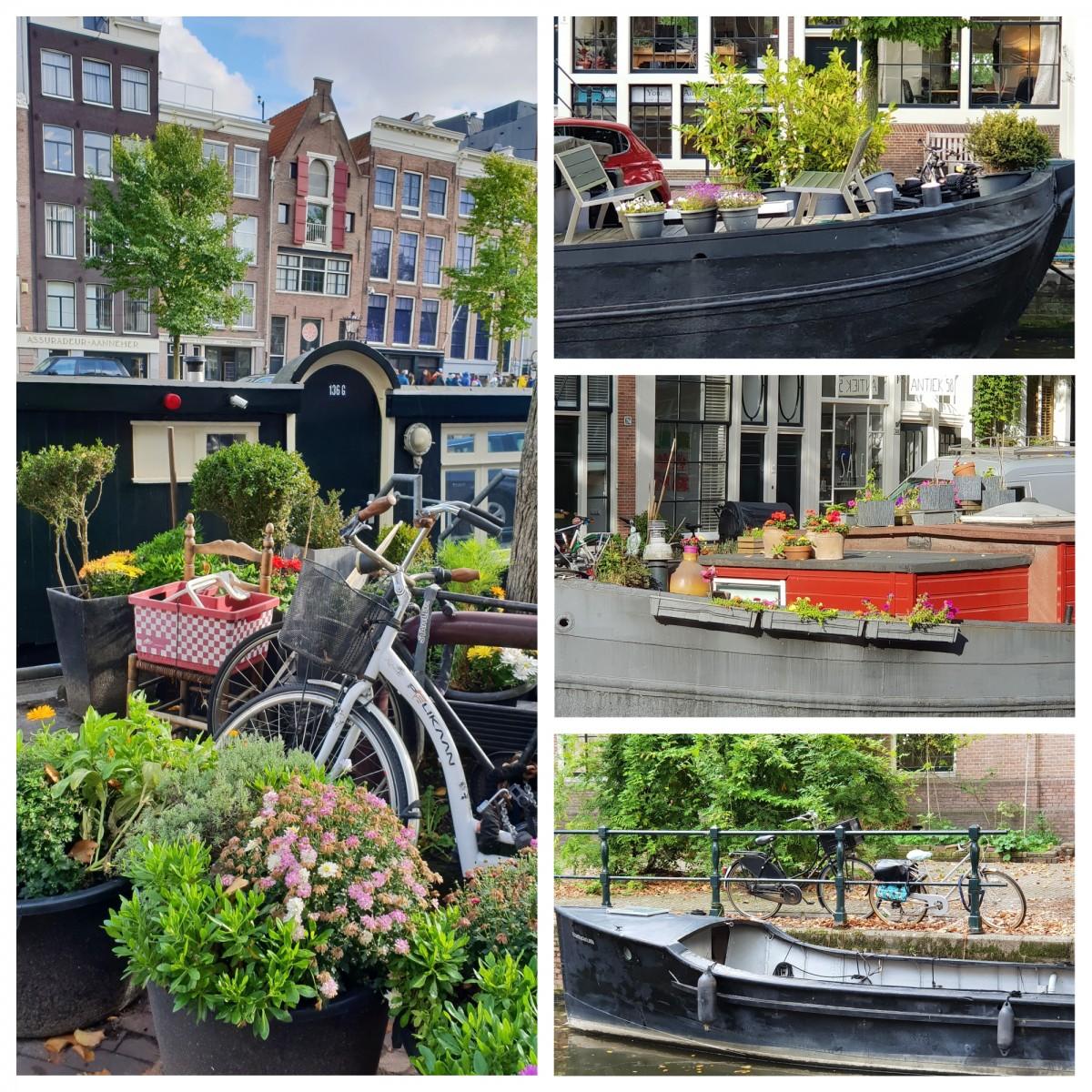 Kanalbåter i Amsterdam.