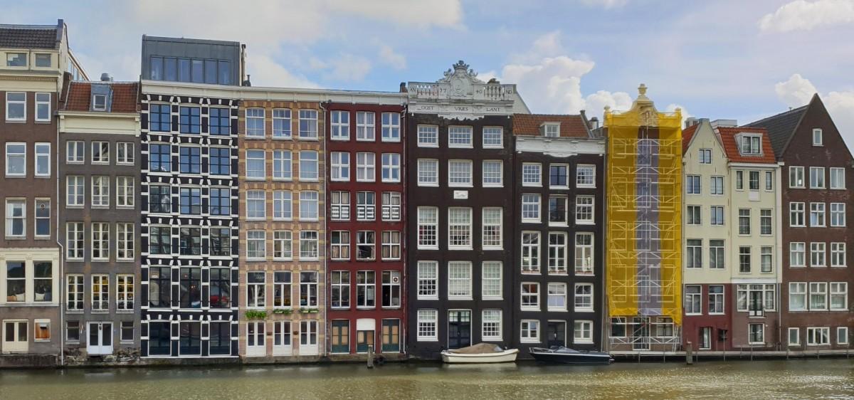 De dansende husene i Amsterdam