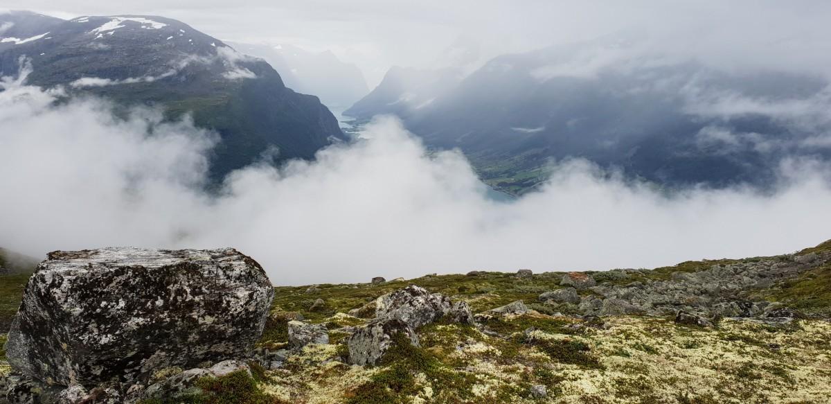 Tåken på vei opp fjellet - Loen Skylift